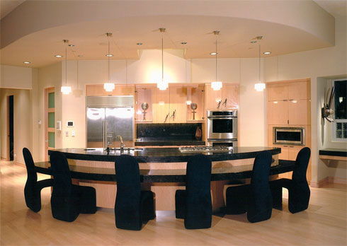 Modern contemporary style kitchen great room design ideas for Modern great room designs